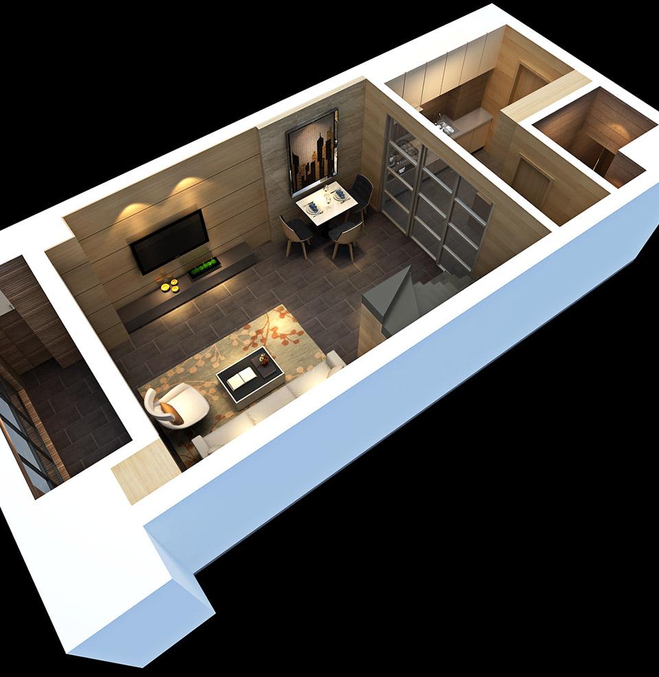 酒店式公寓装修,loft装修设 计,loft设计,小户型loft装修,loft公寓
